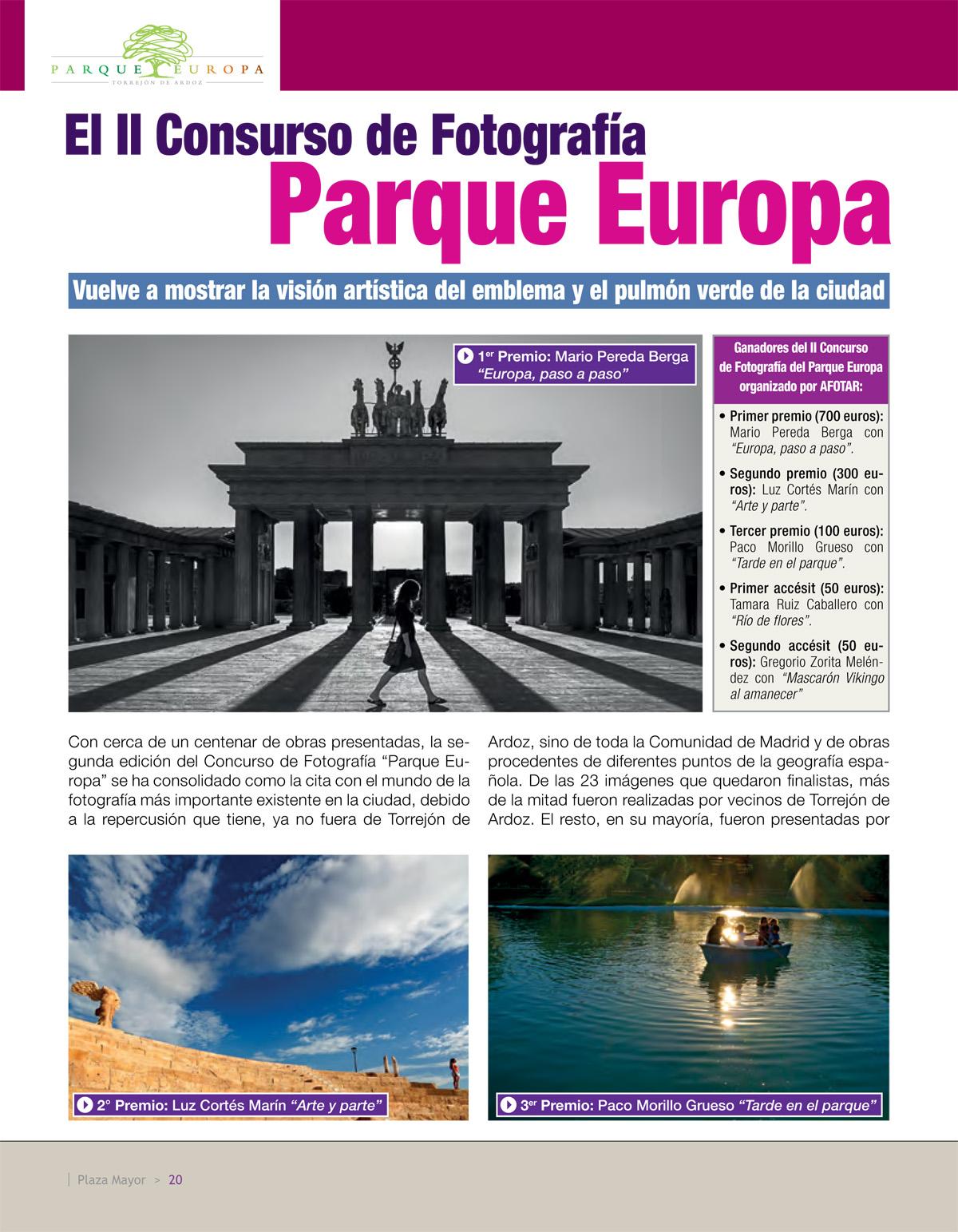 II Concurso Fotográfico Parque Europa, AFOTAR