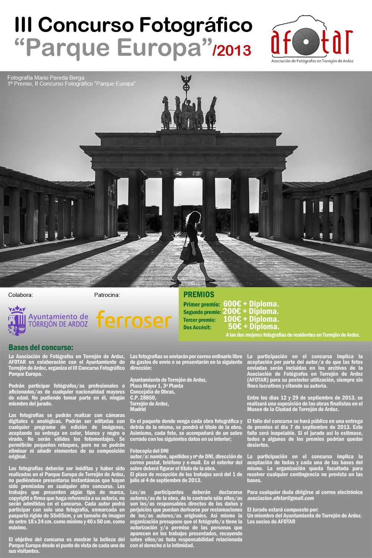 III Concurso Fotográfico Parque Europa